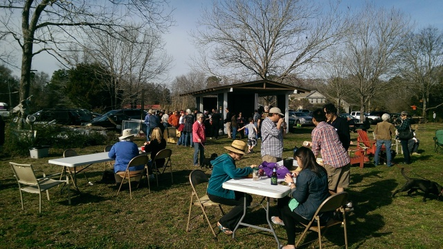 Guests enjoy the beautiful Saturday afternoon at Sweetgrass