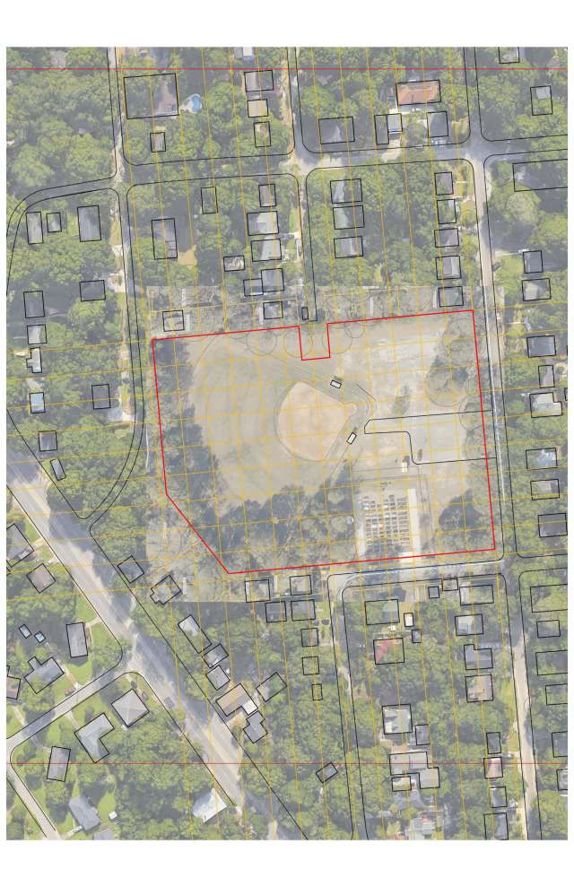site plan with site lines corrected